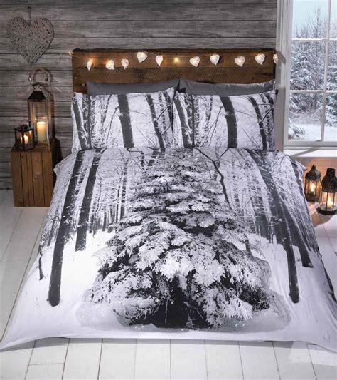 Bedset 160x200 winter animal woodland duvet covers quilt sets penguin polar wolf stag ebay