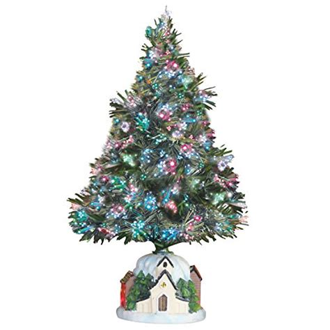 country cottage fiber optic christmas tree