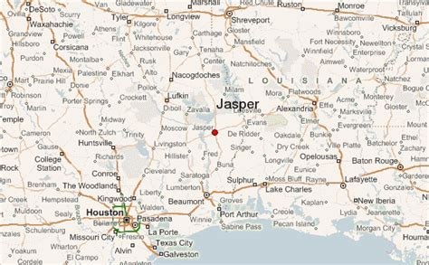 jasper texas map jasper texas location guide