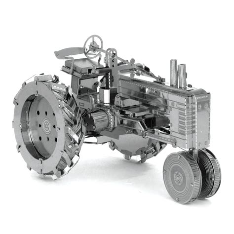 Puzzle 3d Metal Farm Tractor Miniatur Traktor Pertanian Ultra Detail traktor puzzle 3d metall bausatz kaufen