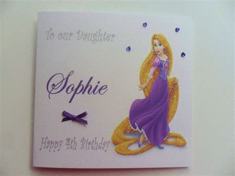 handmade princess card templates images handmade personalised disney princess rapunzel birthday