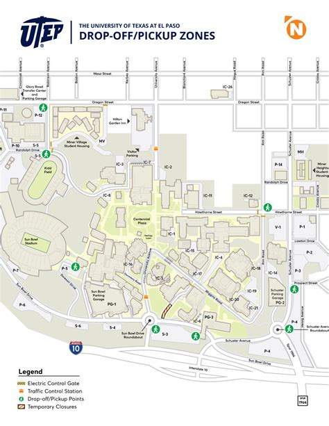 utep map utep announces changes to cus drop and area construction updates utep news archive
