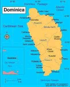 dominica on world map atlas dominica
