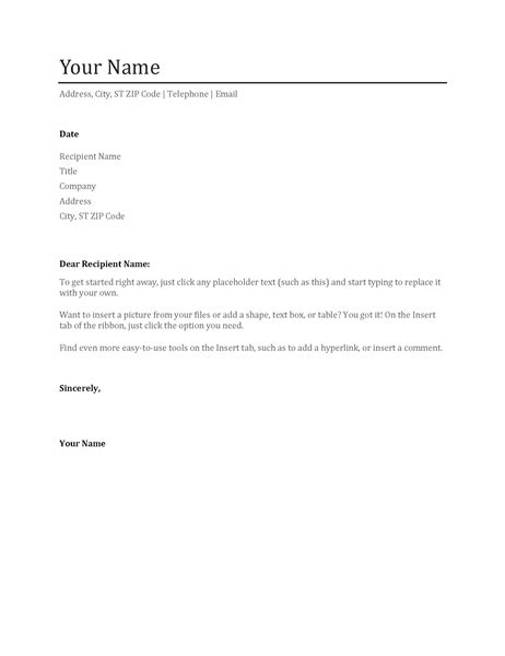 Standard Cover Letter For Resume by Standard Resume Cover Letter Letter Of Recommendation