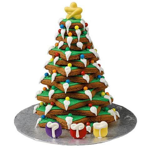 wilton pre baked gingerbread christmas tree kit cookies