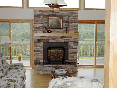 fireplace designs with stone stacked stone fireplace pictures and ideas