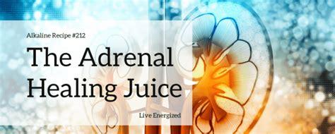 Adrenal Detox Juice by Alkaline Recipe 212 De Wire Calm Adrenal Healing