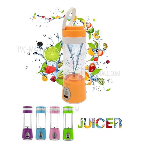 Blender Jus Portable 380ml Pink portable juice blender and mixer 380ml juicer cup pink tvc mall