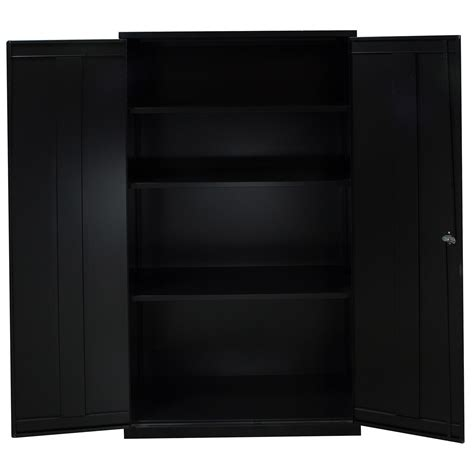 Black Storage Cabinet Used Storage Cabinet 4 Shelves Black National Office Interiors And Liquidators