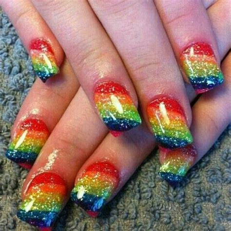 17 Rainbow Nail Designs You Won't Miss - Pretty Designs Rainbow Hair Tumblr