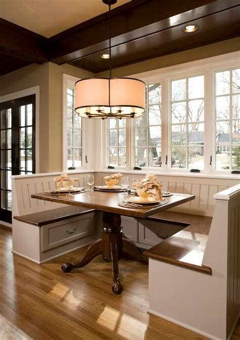 Kitchen Table With Built In Bench Banquette Seating Ideas Breakfast Nook Cabinetry Dura Supreme