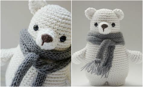white polar baby bear  scarf styles idea