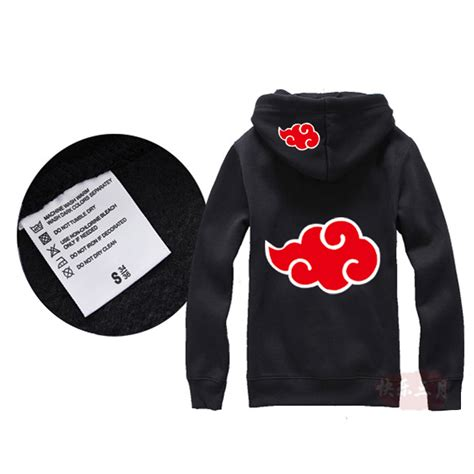 Sweater Zipper Akatsuki hoodie 2017 uchiha sasuke coat uzumaki akatsuki jacket winter thick zipper