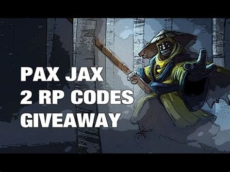 Rp Code Giveaway - full download how to get pax jax skin code for free