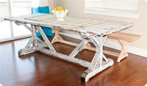 How To Build A Trestle Dining Table Trestle Dining Table