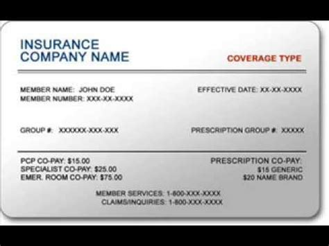 how to make a insurance card insurance cards for small business