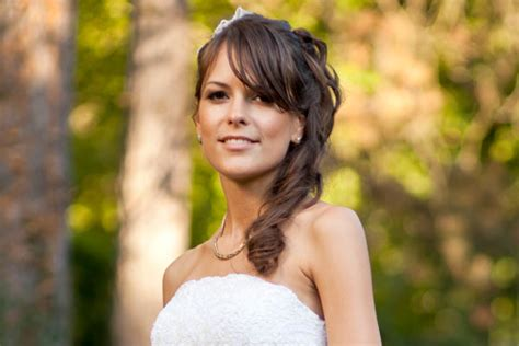 Wedding Hairstyles With Side Ponytail by Brides With Bangs Hair World Magazine