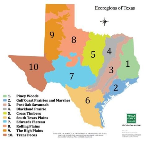 regions of texas map heritage garden tour of the ten regions in texas