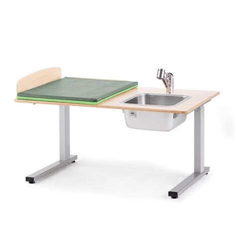 Height Adjustable Baby Changing Table Elit Incl R H Sink Height Of Changing Table