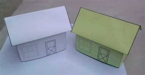 Beginner Papercraft - my world my feelings blank house template papercraft