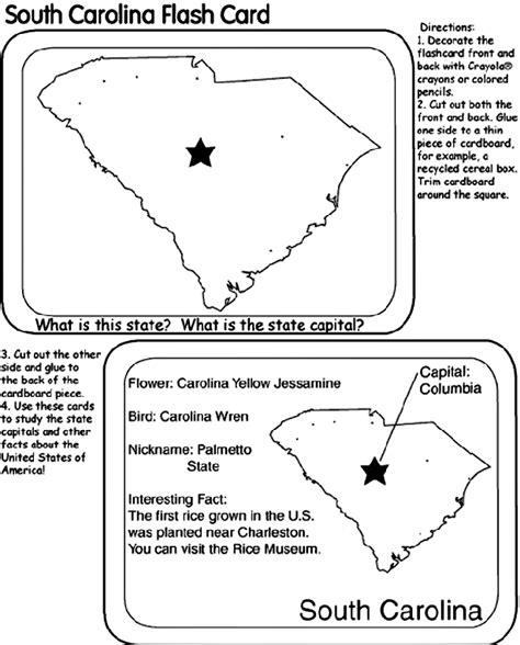 us state flash cards south carolina crayola com au