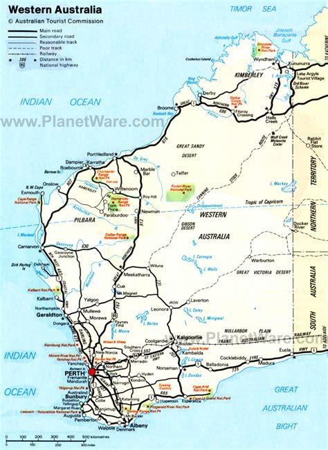 map of western australia western australia road map images