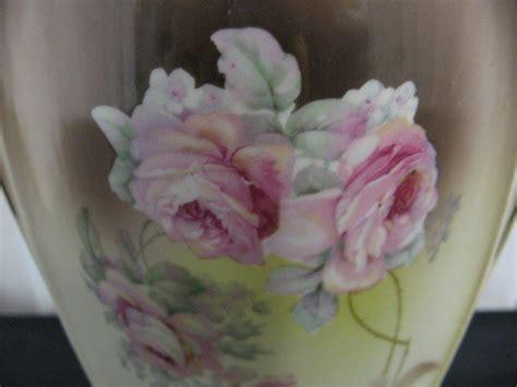 antique porcelain 2 handle vase markings underneath for