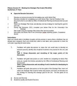 strategic plan word template sle strategic plan 9 documents in pdf word