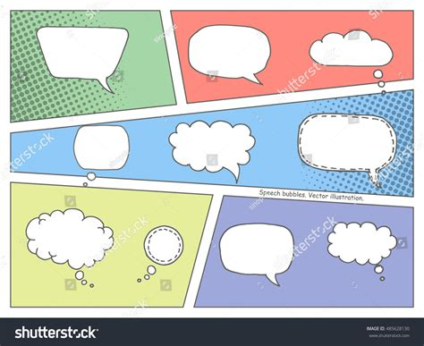 book layout elements colorful comic book speech bubbles vector stock vector