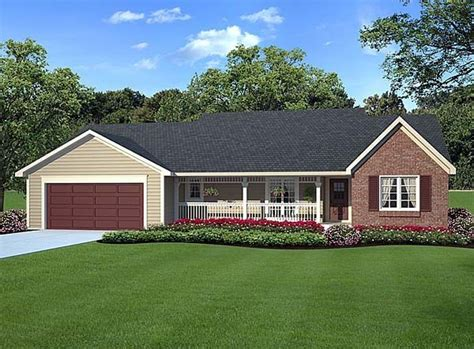 country ranch traditional house plan 20083