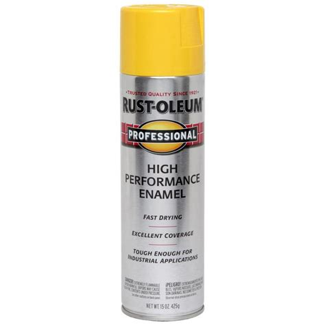 shop rust oleum 15 oz safety yellow gloss spray paint at lowes