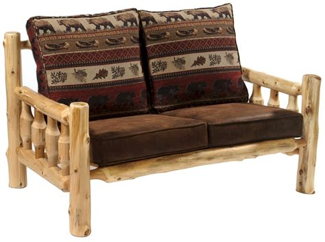 log couch cedar log love seat log living room furniture rustic