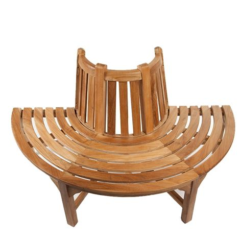half round bench half round teak tree seat bench 150cm 4ft 11in 163 439 99