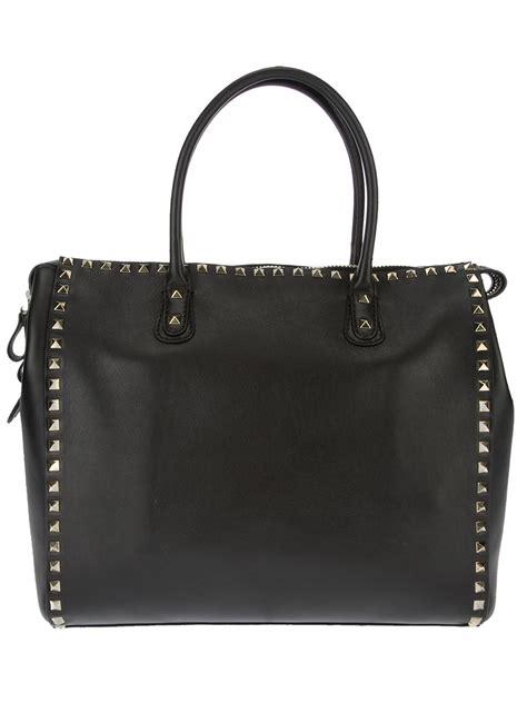 Valentino Studded Tote by Valentino Studded Tote Bag In Black Lyst