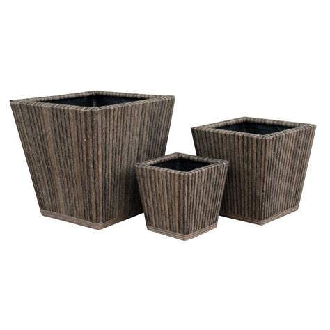 marsh square planter set of 3 pride garden products