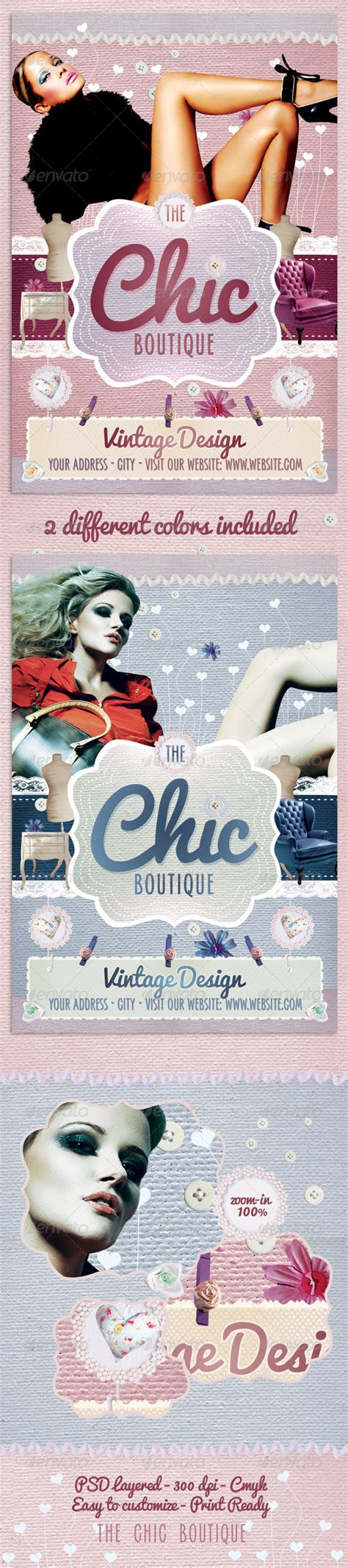 The Chic Boutique Flyer Template Graphicriver Boutique Flyer Template