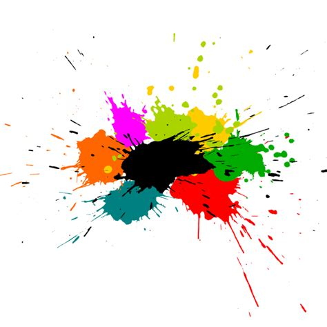 paint colorful 5 colorful paint splash background vector svg onlygfx
