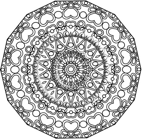 kaleidoscope coloring pages for adults free coloring pages of kaleidoscope