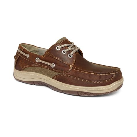 dockers shoes dockers darwin boat shoes in brown for brown lyst