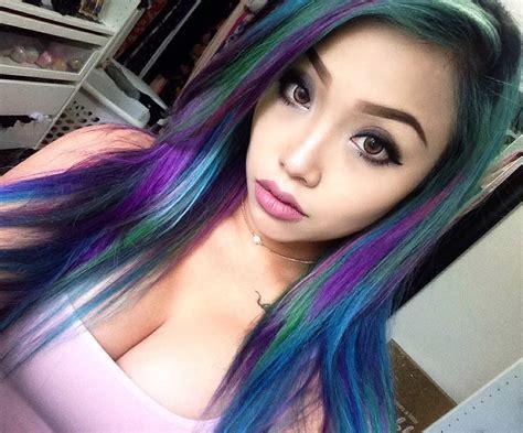 subreddits for hair colorful hair flipmeme