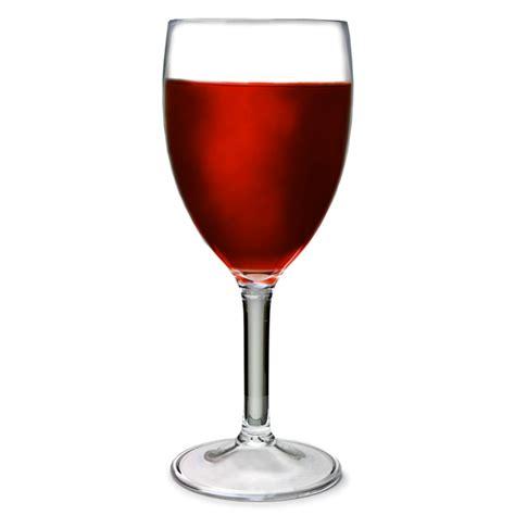 Acrylic Wine Glasses Flamefield Acrylic Wine Glasses Clear 10oz 290ml