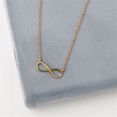 Infinite Necklace gold plated infinity necklace by orelia