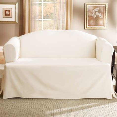 white t cushion slipcover lightweight cotton t cushion sofa slipcover natural