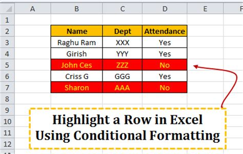 conditional format excel 2007 entire row how to highlight a row in excel using conditional