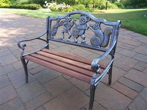 bench bar oakland oakland living animals cast iron garden decorative bench