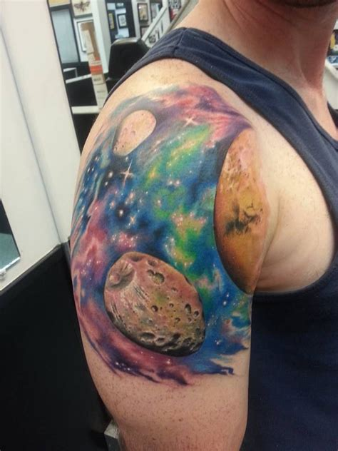 joshartist mars space moons space galaxy