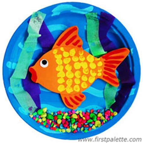 Paper Fish Bowl Craft - 3d goldfish bowl craft crafts firstpalette