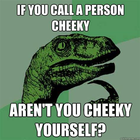 Cheeky Meme - if you call a person cheeky aren t you cheeky yourself
