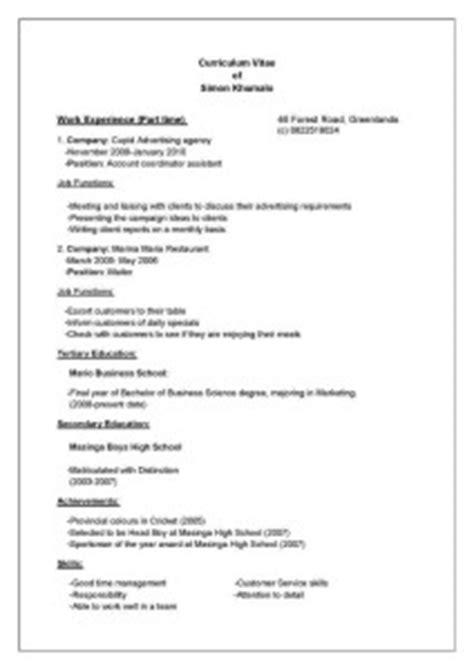 cv templates for matriculants hvordan skrive cv mine tips for hvordan man skal skrive cv