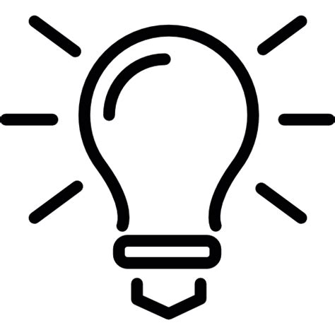 electric light bulb free tools and utensils icons